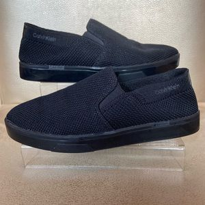 Calvin Klein Inca 2 black mesh slip-on comfy shoes